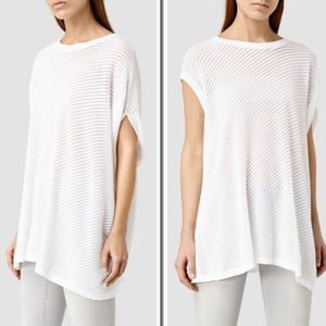 ALL SAINTS, Grid Tee, Chalk White, Size Large, NWT